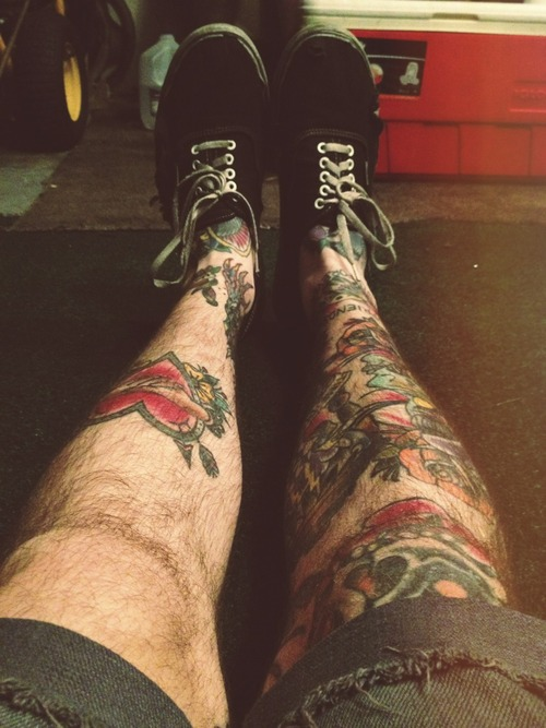 Tattooed Guy's Legs
