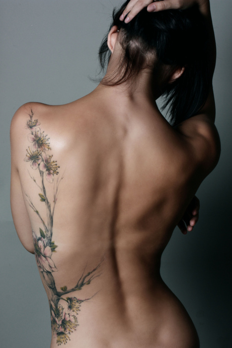 Amazing Back Floral Tat