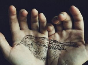 Beautiful Palms Tattoo Idea