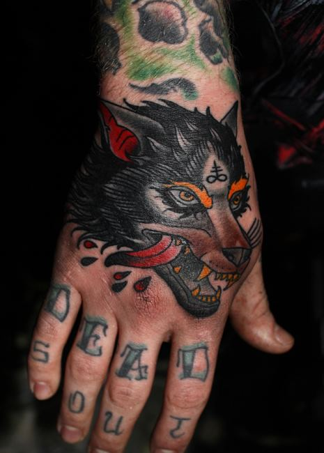 black wolf hand ink best tattoo design ideas. Black Bedroom Furniture Sets. Home Design Ideas