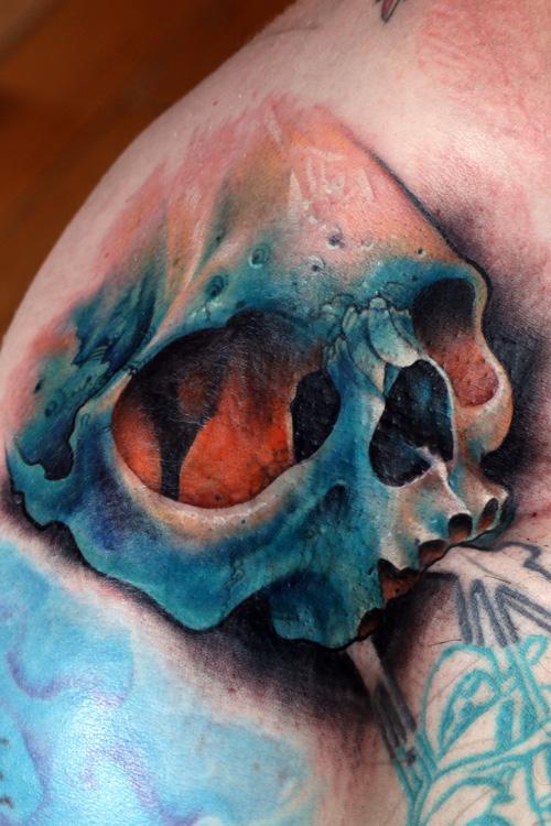 Blue Skull Best Tattoo Design Ideas