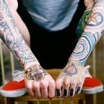 Colourful Tattooed Arms