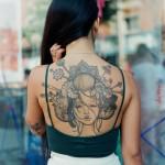 Geysha On Girl's Back