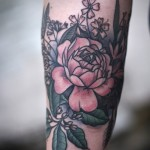 Nice Flower Tat On Arm