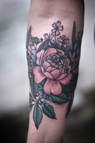 Nice Flower Tat On Arm