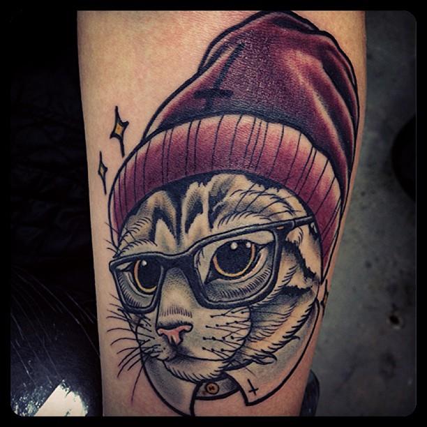 Beautiful cat tattoo designs