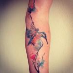 Watercolor Colibri Tattoo