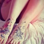 Watercolor Feet Tattoos