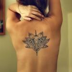Wonderful Lotus Back Tat