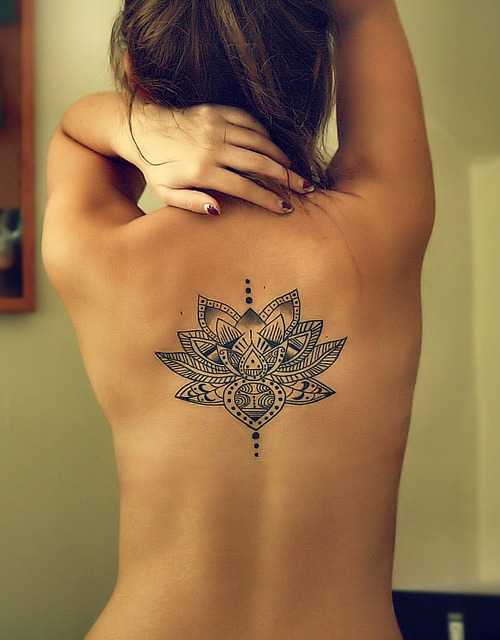 Wonderful Lotus Back Tat