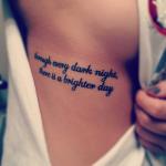 through every dark night