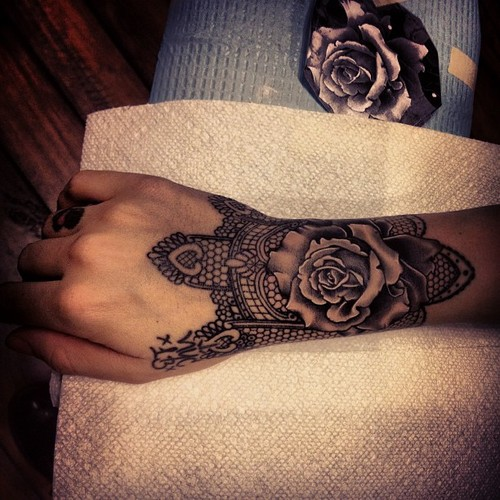 Amazingly Realistic Black Rose Ink