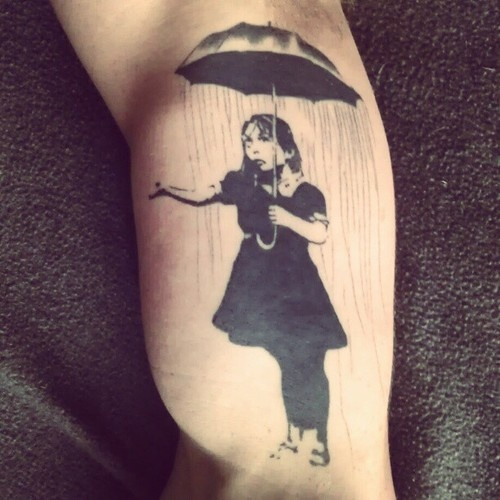 Banksy Umbrella Girl