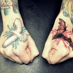 Bat & Pigeon Tattoo