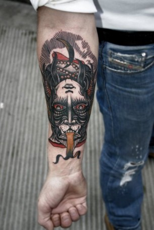 Devil Arm Tattoo