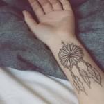 Dream Catcher Wrist Tattoo