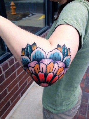 Elbow Flower Tattoo