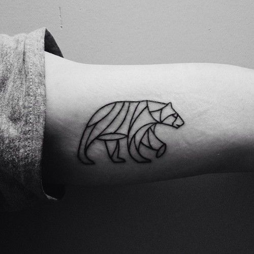 Geometric Bear Tattoo