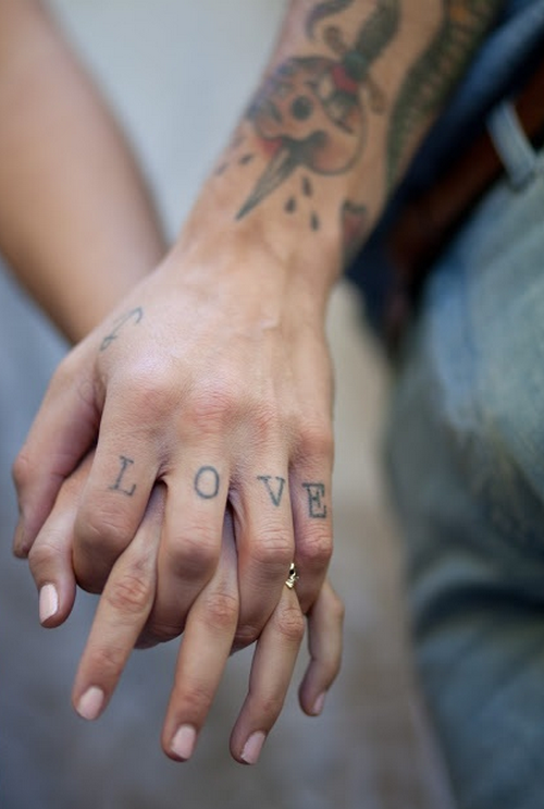 Love Fingers Tat Best Tattoo Design Ideas