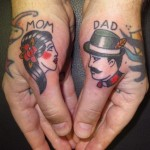 Mom & Dad Thumbs Tattoo