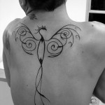 Phoenix Tattoo On Back
