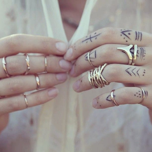 Simple Minimal Fingers Tattoos