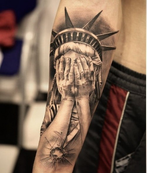 Statue of Liberty Tattoo Idea