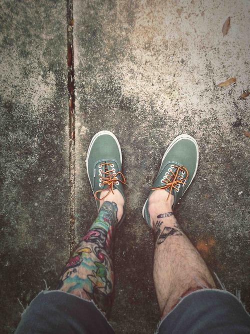 Stylish Leg Tattoo