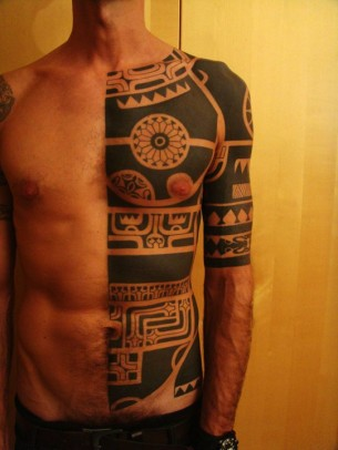 Tribal Front Tattoo