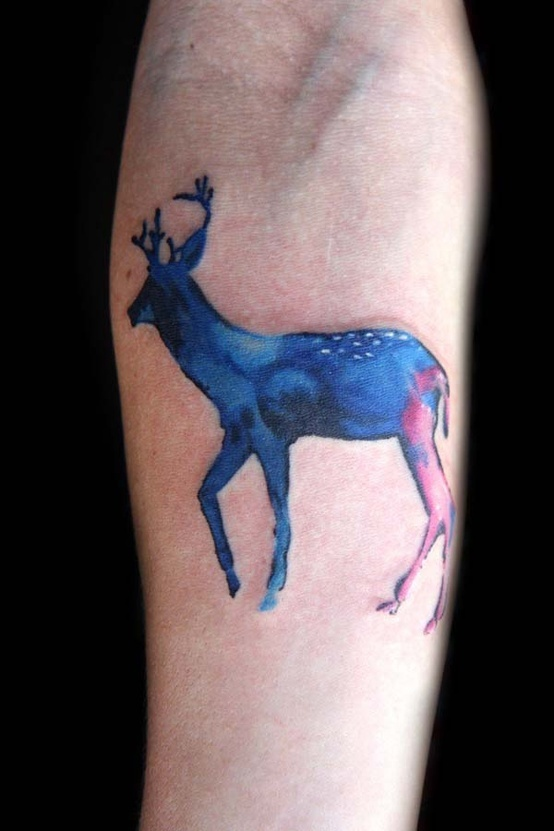 Warecolor Deer Tattoo