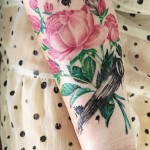 Beautiful Rose Wrist Ink