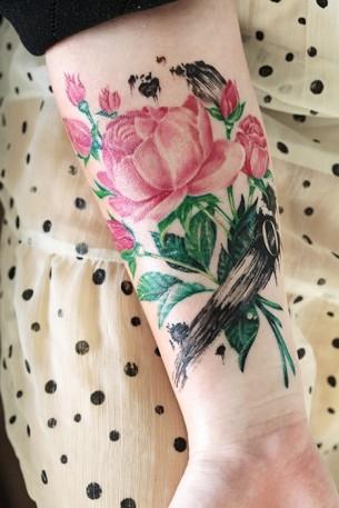 Beautiful Rose Wrist Ink