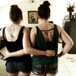 Bow And Arrow Sister Tattoo Idea