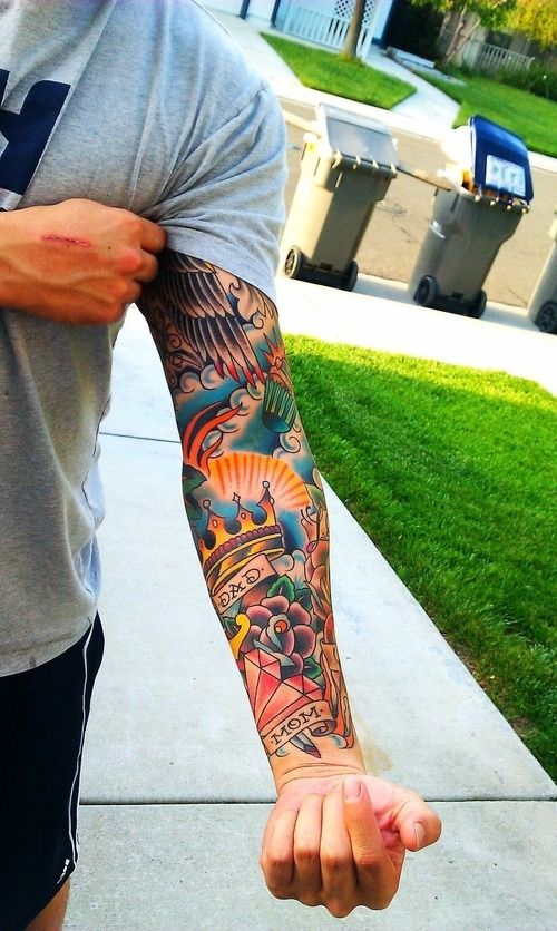 Classy Inked Colourful Arm
