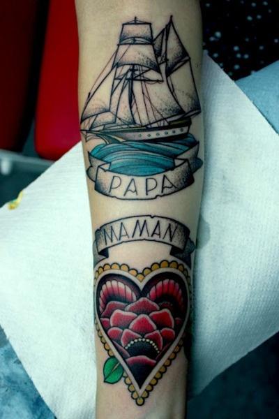 dad and mom tattoo on arm best tattoo design ideas