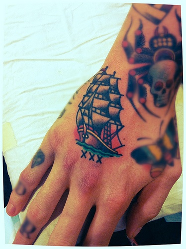 Traditional Tattoos On Hand