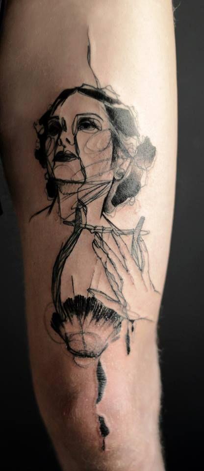 Abstract Tattoo By Marta Lipinski