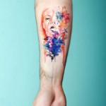 Abstract tattoo by CANDE
