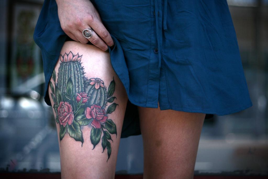 Cactus Flower Tattoo