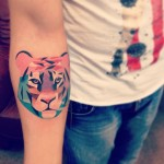 Colourful Tiger Tattoo