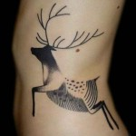 Deer Tattoo By Kris Ciezlik