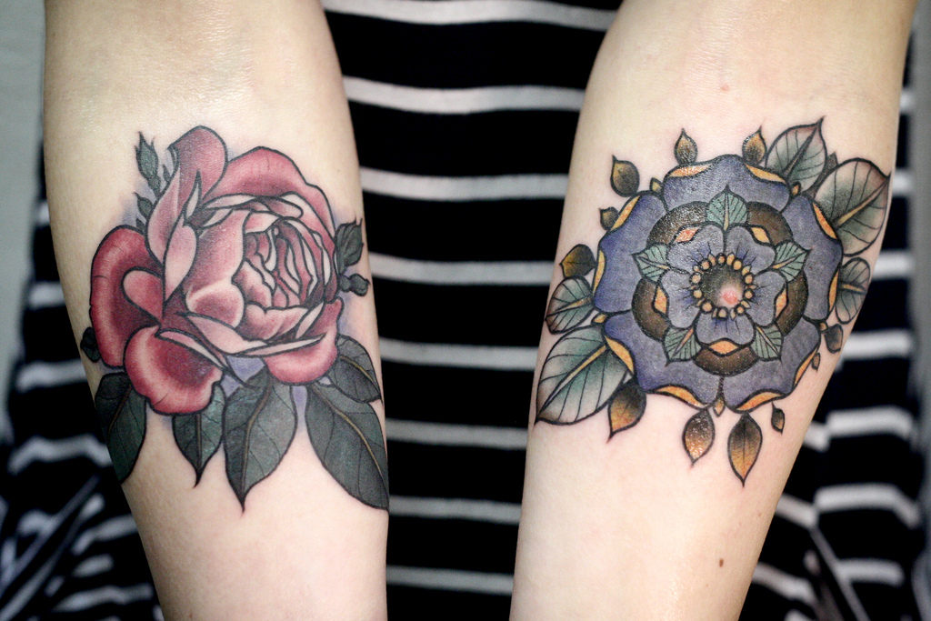 Flowers Tattoos On Arms