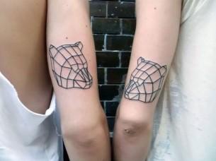 Geometric Bear Heads