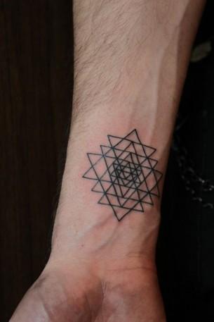 Geometric Wrist Tattoo