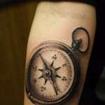 Pocket Compass Tattoo