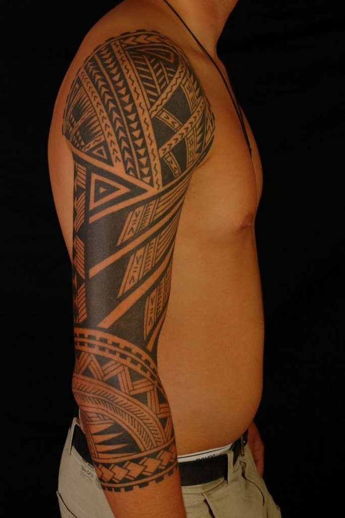 Polynesian Tribal Arm Tattoo