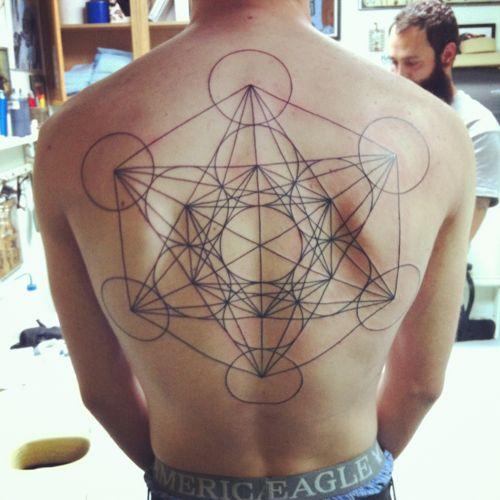 Sacred Geometry Back Tattoo