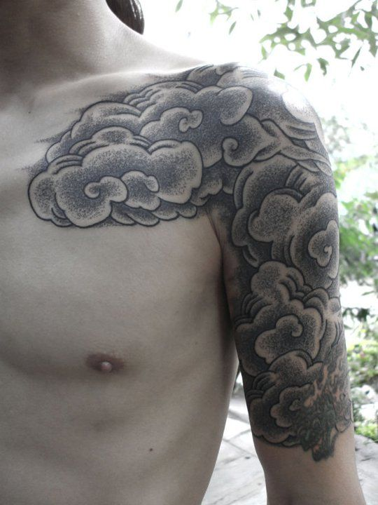 Shoulder & Sleeve Tattoo By Kenji Alucky