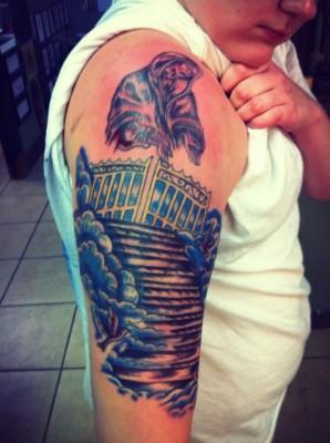 Stairway to heaven tattoos on pinterest stairway to for Stairway to heaven tattoo