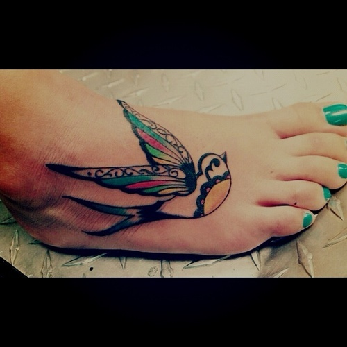 Swallow Feet Tattoo